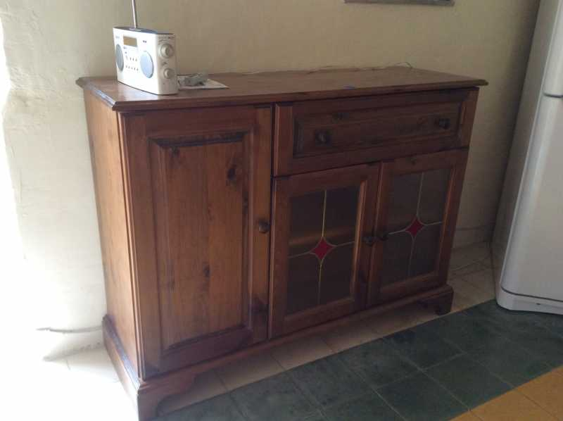 Pine Wood Sideboard For Sale