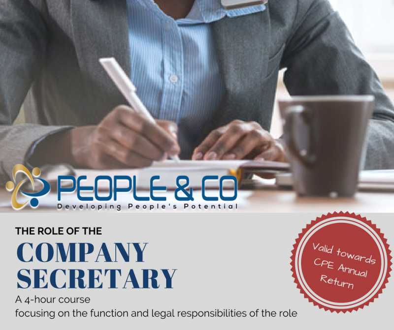 The Role Of The Company Secretary